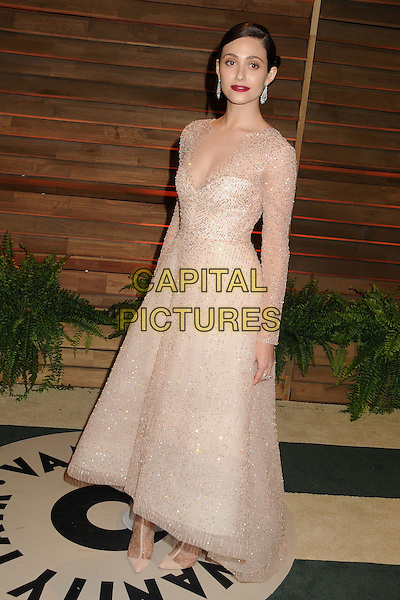 02 March 2014 - West Hollywood, California - Emmy Rossum. 2014 Vanity Fair Oscar Party following the 86th Academy Awards held at Sunset Plaza.  <br /> CAP/ADM/BP<br /> &copy;Byron Purvis/AdMedia/Capital Pictures