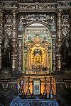 Main altar, madonna and child, Monastery of Bonany, Es Pla, Mallorca. Bonany, the site of the last sermon of Fr. Junipero Serra before leaving for the Mexico and California in 1735...Santuario de la Mare de Deú de Bonanywas originally  constructed in the XVII. century.