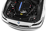 High angle engine detail of a 2013 Bmw SERIES 5 ActiveHybrid 5 4 Door Sedan 2WD