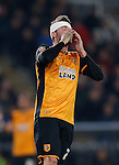 Nick Powell of Hull City reacts after missing a chance to score - English FA Cup - Hull City vs Arsenal - The KC Stadium - Hull - England - 8th March 2016 - Picture Simon Bellis/Sportimage