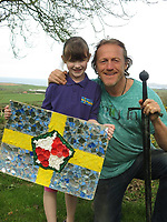 Pictured: Elly Neville with actor Jerome Flynn<br /> Re: Seven-year-old Elly Neville who was born despite doctors saying her parents would not be able to have any more children, has raised over &pound;150,000 for the cancer ward that treated her father.<br /> Her parents Lyn and Ann had been told they were unlikely to have more children after he underwent a bone marrow transplant in 2005. <br /> Mr Neville subsequently spent a lot of time on the Ward 10 cancer facility at Withybush Hospital in Haverfordwest, Pembrokeshire.<br /> But four years later they were stunned when his painter and decorator wife Ann fell pregnant again.