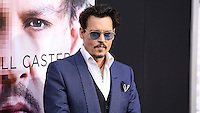 "WESTWOOD, LOS ANGELES, CA, USA - APRIL 10: Johnny Depp at the Los Angeles Premiere Of Warner Bros. Pictures And Alcon Entertainment's ""Transcendence"" held at Regency Village Theatre on April 10, 2014 in Westwood, Los Angeles, California, United States. (Photo by Xavier Collin/Celebrity Monitor)"