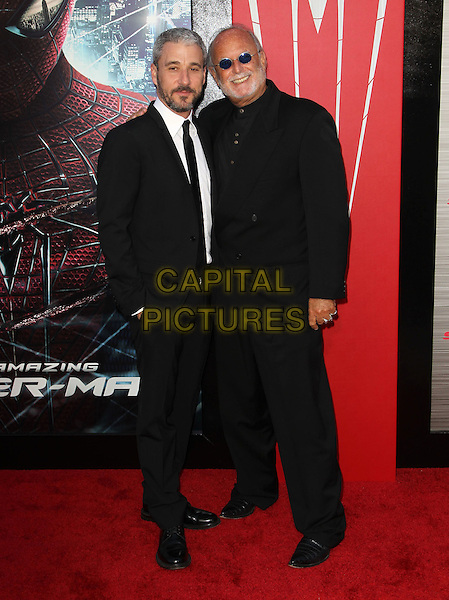 "Matt Tolmach, Avi Arad.Los Angeles Premiere Of ""The Amazing Spider-Man"" Held The at Regency Village Theatre, Westwood, California, USA..June 28th, 2012.full length black suit sunglasses shades .CAP/ADM/FS.©Faye Sadou/AdMedia/Capital Pictures."