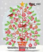 Kate, CHRISTMAS SYMBOLS, WEIHNACHTEN SYMBOLE, NAVIDAD SÍMBOLOS, paintings+++++Watercolour tree 2.,GBKM585,#xx#