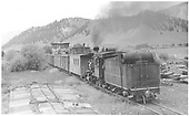 3/4 rear fireman's-side view of D&amp;RGW #278 switching freight cars at Castleton.<br /> D&amp;RGW  Castleton - Baldwin Branch, CO  Taken by Perry, Otto C. - 7/4/1940