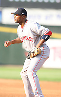 2007:  Bobby Scales of the Pawtucket Red Sox, Class-AAA affiliate of the Boston Red Sox, during the International League baseball season.  Photo by Mike Janes/Four Seam Images