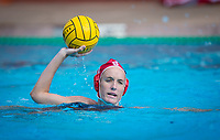 STANFORD, CA - March 23, 2019: Makenzie Fischer at Avery Aquatic Center. The #2 Stanford Cardinal took down the #18 Harvard Crimson 20-7.