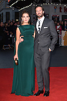 LONDON, UK. October 16, 2016: Armie Hammer &amp; Elizabeth Chambers at the London Film Festival 2016 premiere of &quot;Free Fire&quot; at the Odeon Leicester Square, London.<br /> Picture: Steve Vas/Featureflash/SilverHub 0208 004 5359/ 07711 972644 Editors@silverhubmedia.com