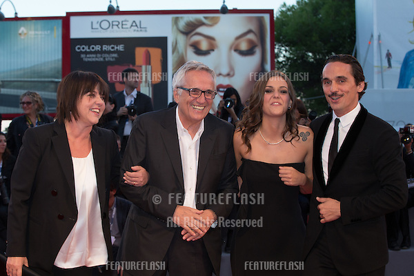 Director Marco Bellocchio and actors Elena Bellocchio and Pier Giorgio Bellocchio at the premiere of Blood Of My Blood at the 2015 Venice Film Festival.<br /> September 8, 2015  Venice, Italy<br /> Picture: Kristina Afanasyeva / Featureflash