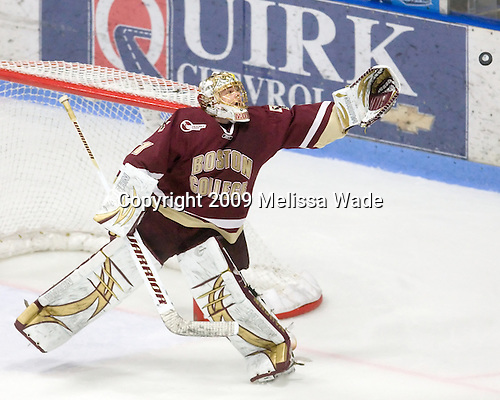John Muse (BC - 1) - The Boston College Eagles and University of Maine Black Bears tied 3-3 (OT) on Saturday, November 21, 2009, at Alfond Arena in Orono, Maine.