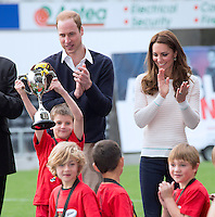 Kate, Duchess of Cambridge & Prince William at a rugby match in Dunedin - New Zealand