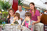 Arta Beqha, Ori Beqha, Brianna Beqha, Emily Beqha and Alket Beqha enjoying at Burger at the Ballyseedy Garden Centre Family fun Day in aid of the Home to Rome Cycle on Sunday