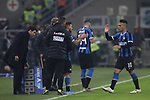 Lautaro Martinez of Inter is substituted for Matteo Politano during the Serie A match at Giuseppe Meazza, Milan. Picture date: 11th January 2020. Picture credit should read: Jonathan Moscrop/Sportimage