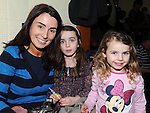 Sharon Gilmartin and her daughters Holly and Hazel pictured at the Ceilí and set dancing weekend at An Grianan. Photo: Colin Bell/pressphotos.ie