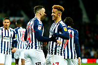 25th February 2020; The Hawthorns, West Bromwich, West Midlands, England; English Championship Football, West Bromwich Albion versus Preston North End; Callum Robinson of West Bromwich Albion celebrates with Hal Robson-Kanu after Robson-Kanu's opening goal after five minutes for 1-0