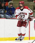 Petr Placek (Harvard - 27) - The Harvard University Crimson defeated the visiting Clarkson University Golden Knights 3-2 on Harvard's senior night on Saturday, February 25, 2012, at Bright Hockey Center in Cambridge, Massachusetts.