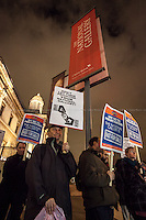 "19.01.2015 - ""No to Backdoor Privatisation"" Emergency Protest at the National Gallery"