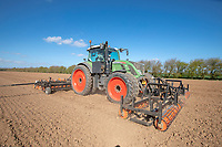 Cultivating & drilling sugar beet - Lincolnshire, March