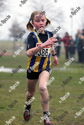 2010-02-07 / Atletiek / PK Veldlopen Mechelen / Benjamins Meisjes 2001 / Lissa Deckers werd 3e..Foto: mpics
