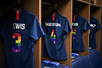 Sandy, Utah - Thursday June 07, 2018: USWNT locker room during an international friendly match between the women's national teams of the United States (USA) and China PR (CHN) at Rio Tinto Stadium.