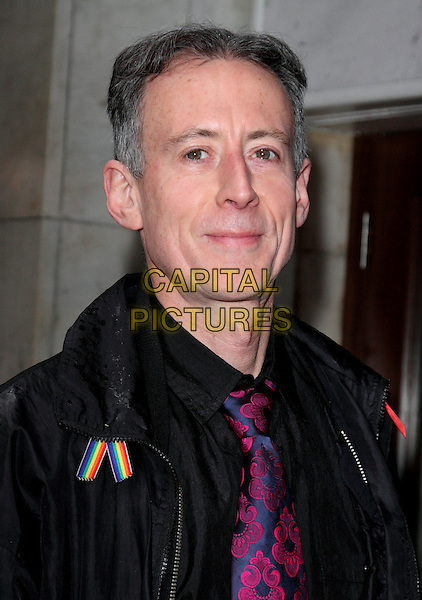 Peter Tatchell.The 'Ballet Revolucion' VIP night, Peacock theatre, Portugal St., London, England..April 25th, 2012.headshot portrait black purple tie.CAP/ROS.©Steve Ross/Capital Pictures