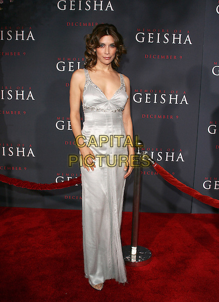 "JO CHAMPA.Los Angeles Premiere of Columbia Pictures' ""Memoirs of a Geisha""held at the Kodak Theater, Hollywood, California..December 4th, 2005.Photo: William Scott/Admedia/Capital Pictures.Ref: WS/ADM.full length silver dress.www.capitalpictures.com.sales@capitalpictures.com.© Capital Pictures."
