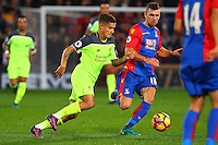 Philippe Coutinho and James McArthur during the EPL - Premier League match between Crystal Palace and Liverpool at Selhurst Park, London, England on 29 October 2016. Photo by Steve McCarthy.