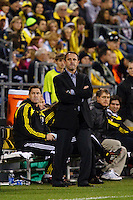 25 OCTOBER 2009:  Columbus Coach Robert Warzycha during the New England Revolution at Columbus Crew MLS game in Columbus, Ohio on October 25, 2009.