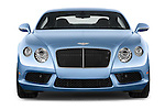 Car photography straight front view of a 2014 Bentley Continental GT V8 Coupe 2 Door Coupe Front View