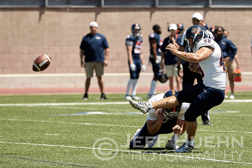 SAN ANTONIO, TX - APRIL 20, 2019: The University of Texas at San Antonio Roadrunners hold their UTSA Football Fiesta Spring Game at Dub Farris Stadium. (Photo by Jeff Huehn)