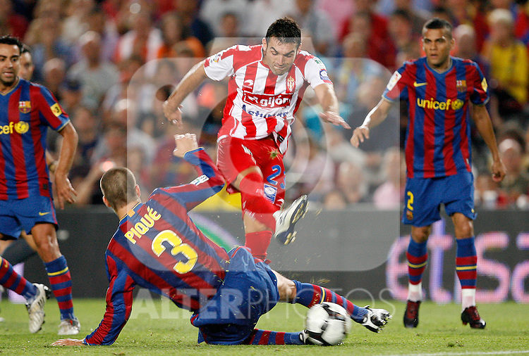 Sporting de Gijon's David Barral during the La Liga match.August 31 2009. (ALTERPHOTOS/Acero).