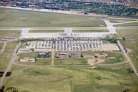 Aerial of Colorado Springs Airport Terminal