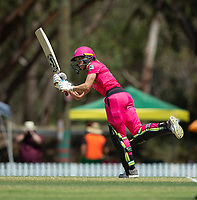 24th November 2019; Lilac Hill Park, Perth, Western Australia, Australia; Womens Big Bash League Cricket, Perth Scorchers versus Sydney Sixers; Erin Burns of the Sydney Sixers plays down the leg side - Editorial Use
