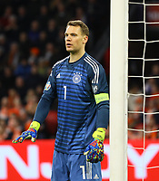 Torwart Manuel Neuer (Deutschland Germany) - 24.03.2019: Niederlande vs. Deutschland, EM-Qualifikation, Amsterdam Arena, DISCLAIMER: DFB regulations prohibit any use of photographs as image sequences and/or quasi-video.