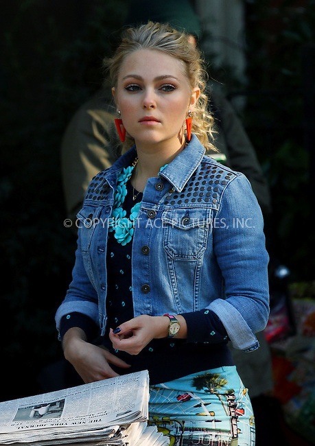 WWW.ACEPIXS.COM<br /> <br /> September 23 2013, New York City<br /> <br /> Actress AnnaSophia Robb was on the set of the TV show'The Carrie Diaries' on September 23 2013 in New York City<br /> <br /> By Line: Zelig Shaul/ACE Pictures<br /> <br /> <br /> ACE Pictures, Inc.<br /> tel: 646 769 0430<br /> Email: info@acepixs.com<br /> www.acepixs.com