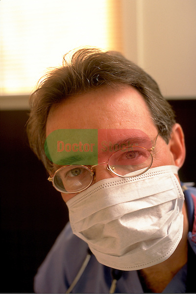 portrait of doctor wearing mask