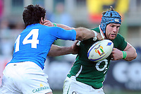 Sean O'Brian (Irlanda) Andrea Masi (Italia)<br /> Italia vs Irlanda 11-13<br /> Six Nations Rugby<br /> Stadio Flaminio, Roma, 05/02/2011<br /> Photo Antonietta Baldassarre Insidefoto