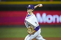 Winston-Salem Dash relief pitcher Codi Heuer (20) in action against the Down East Wood Ducks at BB&T Ballpark on May 10, 2019 in Winston-Salem, North Carolina. The Wood Ducks defeated the Dash 9-2. (Brian Westerholt/Four Seam Images)