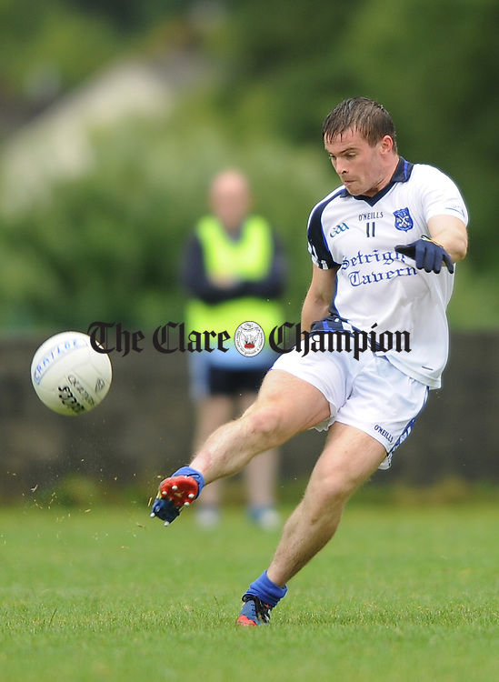 Sean Collins of Cratloe in action against Cooraclare during their senior championship game in Clarecastle. Photograph by John Kelly.