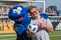 San Jose, CA - Thursday December 31, 2015: Q, Special Olympics  prior to a Major League Soccer (MLS) match between the San Jose Earthquakes and the Colorado Rapids at Avaya Stadium.