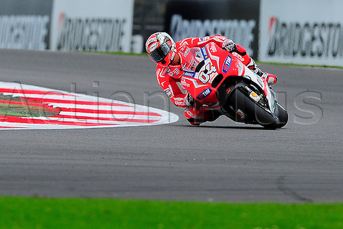 30.08.2014.  Silverstone, England. MotoGP. British Grand Prix. Andrea Dovizioso (Ducati Team)during the qualifying sessions.