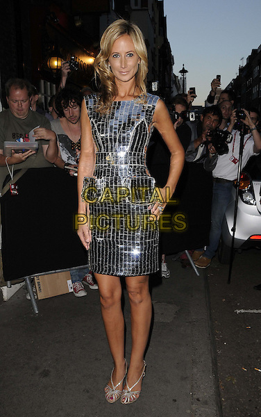 Lady Victoria Hervey.The Omega House launch party, House of St Barnabas, London, England..July 28th, 2012.full length silver dress sleeveless  pockets metallic hand on hip.CAP/CAN.©Can Nguyen/Capital Pictures.