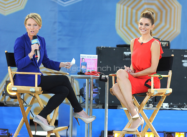 New York, NY- June 6: Maria Menounos is interviewed on GMA by Amy Roebuck  in Central Park at Rumsey Playfield  during the GMA 2014 Summer Concert Series  on June 6, 2014 in New York City. (C) Credit: John Palmer/MediaPunch.