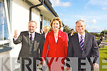 President Mary McAlesse and her husband Martin during her visit to the Intermediate School, Killorglin on Thursday.