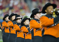 STANFORD, CA - January 2, 2012: Oklahoma State Band members at the Fiesta Bowl at University of Phoenix Stadium in Phoenix, AZ. Final score Oklahoma State wins 41-38.
