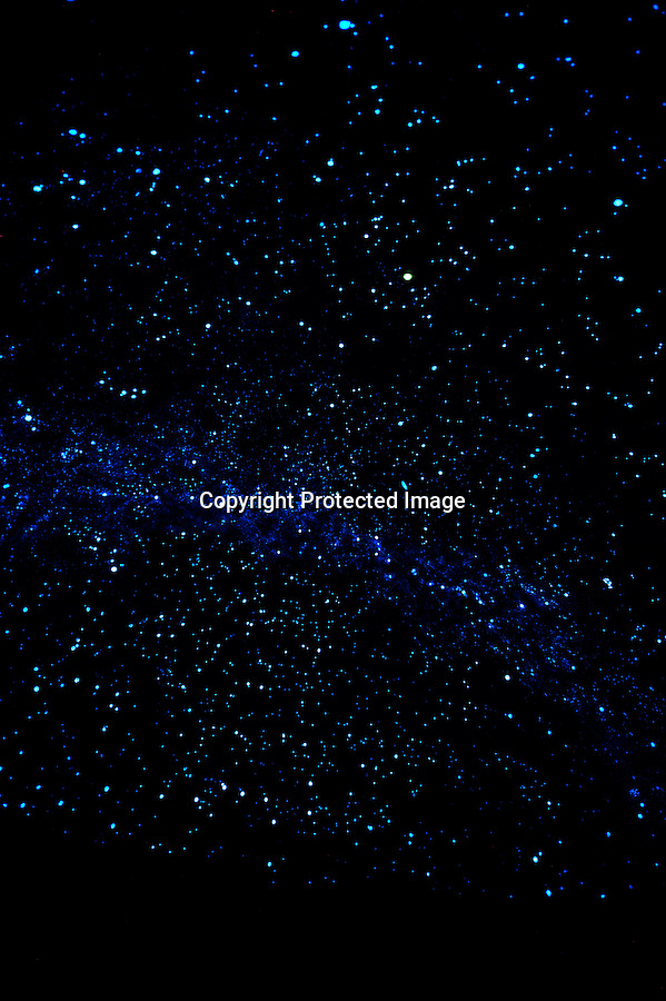 A time exposed photo of the Milky Way painted on the interior of the Kovac Planetarium, the largest mechanically-operated planetarium in the world. Hand-built by Frank Kovac and located in Monico, several miles east of Rhinelander, WI. Open to the public.