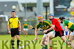 In Action  Kerry's Michael O'Leary at the Kerry v Down in the Christy Ring Cup Round 1 at Austin Stack Park on Saturday