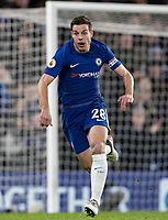 Cesar Azpilicueta of Chelsea during the Premier League match between Chelsea and West Bromwich Albion at Stamford Bridge, London, England on 12 February 2018. Photo by Andy Rowland.