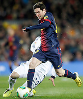 FC Barcelona's Leo Messi during Copa del Rey - King's Cup semifinal second match.February 26,2013. (ALTERPHOTOS/Acero) /Nortephoto