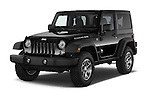 2017 JEEP Wrangler Rubicon 5 Door SUV Angular Front stock photos of front three quarter view